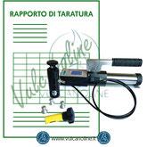 Taratura aderometro