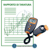 Taratura luxmetri, misuratori raggi uv, piranometri, solarimetri