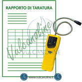 Taratura rilevatori di gas, cercafughe, analizzatori di combustione