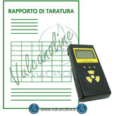 Taratura misuratore di radioattività