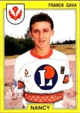 N° 169 - Franck GAVA (1991-92, Nancy > 1997-98, PSG)
