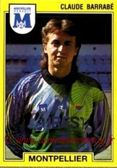 N° 148 - Claude BARRABE (1986-88, PSG > 1991-92, Montpellier)