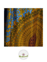 Haremshose, Yogahose, Pluderhose für Damen (Link zu einer Variante), mit Mandala Muster, bordeaux, terra, blau, Fairtrade