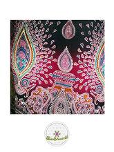 Haremshose, Yogahose, Pluderhose für Damen (Link zu einer Variante), mit Mandala Muster, pink, schwarz, Fairtrade
