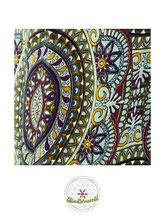 Haremshose, Yogahose, Pluderhose für Damen (Link zu einer Variante), mit Mandala Muster, taubenblau / bunt, Fairtrade