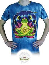 Sure Design (Batik)  T-Shirt 'Be shanti', blau, Link