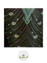 Haremshose, Yogahose, Pluderhose für Damen (Link zu einer Variante), mit Paisley- und Pfauenfeder Muster, grün, Fairtrade