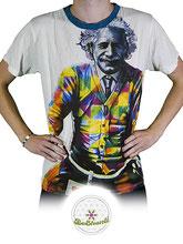 Fairtrade T-Shirt für Männer, Weed Design, mit Einstein Motiv, Link