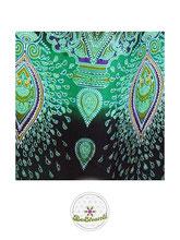 Haremshose, Yogahose, Pluderhose für Damen (Link zu einer Variante), mit Mandala Muster, grün, schwarz, Fairtrade