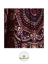 Haremshose, Yogahose, Pluderhose für Damen (Link zu einer Variante), mit Mandala Muster, rosa, dunkelrot, blau, Fairtrade