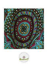 Haremshose, Yogahose, Pluderhose für Damen (Link zu einer Variante), mit Mandala Muster, türkis, petrol, bunt, Fairtrade
