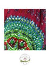 Haremshose, Yogahose, Pluderhose für Damen (Link zu einer Variante), mit Mandala Muster, rot, pink, bunt, Fairtrade