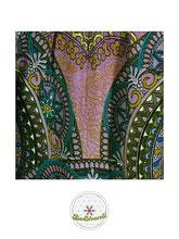 Haremshose, Yogahose, Pluderhose für Damen (Link zu einer Variante), mit Mandala Muster, rosa, rot, bunt, Fairtrade
