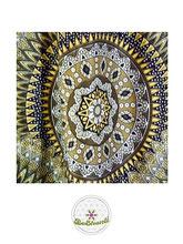 Haremshose, Yogahose, Pluderhose für Damen (Link zu einer Variante), mit Mandala Muster, beige, gold, Fairtrade