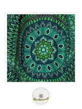 Haremshose, Yogahose, Pluderhose für Damen (Link zu einer Variante), mit Mandala Muster, türkis, petrol, grün, Fairtrade