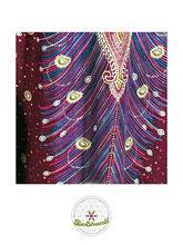 Haremshose, Yogahose, Pluderhose für Damen (Link zu einer Variante), mit Paisley- und Pfauenfeder Muster, pink / rot, Fairtrade