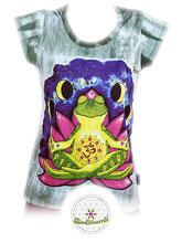 Sure Design (Batik)  Ladyshirt 'Be shanti', grün, Link