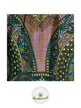 Haremshose, Yogahose, Pluderhose für Damen (Link zu einer Variante), mit Mandala Muster, rosa, petrol, bunt, Fairtrade
