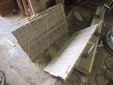 長持の桐板の残りで桐整理箱を作る準備を始めました。