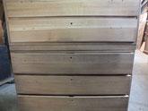 埼玉県より修理依頼の桐箪笥引出前板を粗削りしました。