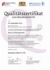 Bayerisches Kultusministerium Zertifikat Eva Sindichakis