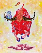 赤べこ amabie 水牛