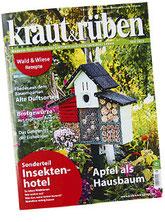 Zeitschrift Kraut & Rüben mit einem Beitrag über die Meßmer Designobjekte aus Holz