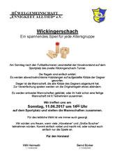 Sonntag, 11. Juni 14 Uhr Wickinger-Schach