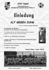 27. Mai Samstag 14 Uhr Alt gegen Jung