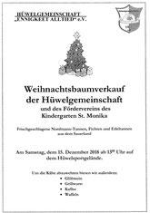 15. Dez. ab 13 Uhr Weihnachtsbaum-Verkauf PLUS