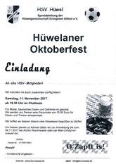 11.11. Oktoberfest 19.30 Uhr   im Hüwelheim