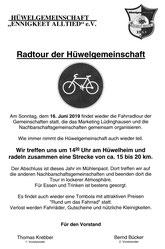 16.6. So 14 Uhr Hüwelheim Radtour