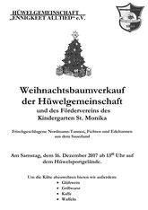 16. Dez. Baum-Verkauf ab 13 Uhr Hüwelsportplatz + lecker Hammi