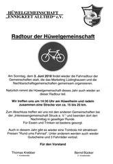 3. 6. 14.30 Uhr Rad-Tour