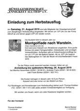 Montgolfiade-Ausflug nach Warstein am 26. Aug.