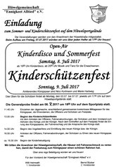 Sommerfest 8. + 9. Juli Samstag-Sonntag
