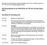 Schützenfest Programm-Plan