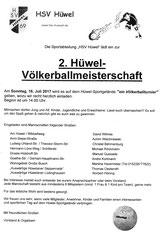 Völkerball-Turnier 16. 7. Sonntag 14 Uhr
