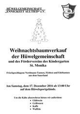 17.12.-ab 13 Uhr-   Baum-Verkauf