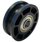 Seilrolle, Durchmesser Ø 52 mm, für Seile bis zu Ø 8 mm mit doppeltem Kugellager mit Distanzring