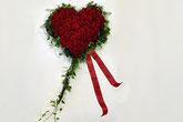 Blumen Karin, Trauerfloristik, Herz, Rosenherz, St.Gallen, rote Rosen,