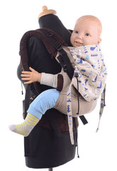 Full Buckle baby carrier preschooler, adjustable back panel, wrap conversion.