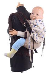 Huckepack Full Buckle Toddler, mitwachsende Tragehilfe aus Tragetuchstoff