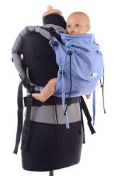 Huckepack Full Buckle, stufenlos mitwachsende Babytragen, ab Geburt, Komforttrage, Tragehilfe