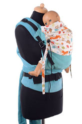 Half Buckel babycarrier, adjustable panel, grows with your child, to use from birth on.