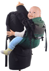 Huckepack Full Buckle, SSC baby carrier, padded straps, hipbelt with buckles.