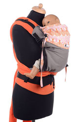 toddler babycarrier, adjustable panel, padded straps, ergonomic hipbelt