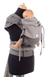 baby carrier, wrap conversion, adjustable panel, expanded shoulder straps, ergonomic hipbelt