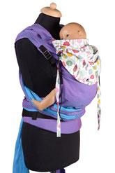 Huckepack Wrap Tai Toddler, mitwachsende Tragehilfe ab Gr.86