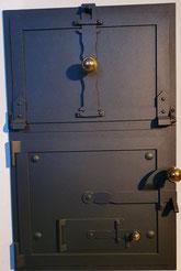 Doppeltüre antik, Knöpfe Messing oder Schmiedeisen, Licht-Licht 60 mm
